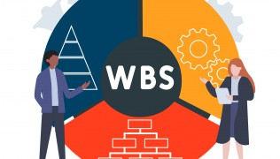 Flat,Design,With,People.,Wbs,-,Work,Breakdown,Structure,Acronym,